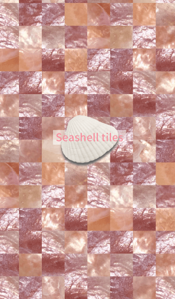 Seashell tiles -coquille pink-の画像(表紙)