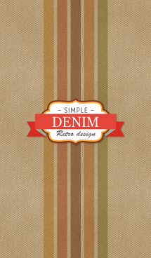 "DENIM ""Retro Design"" 画像(1)"