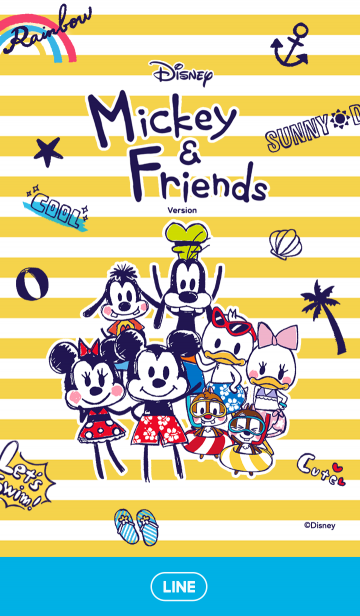 ミッキー&フレンズの夏休み(らくがき)の画像(表紙)