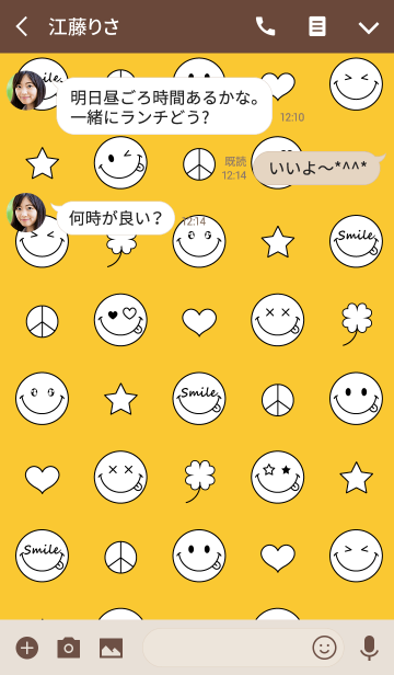 SMILE COLLECTIONの画像(トーク画面)