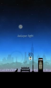 アンティークな街灯・夜空 画像(1)