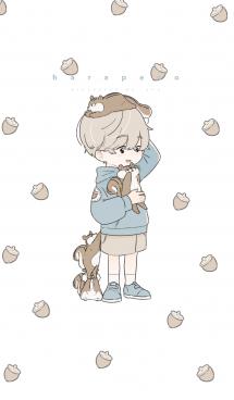 リスと少年 画像(1)