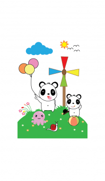 Cute panda theme v.10 (JP) 画像(1)