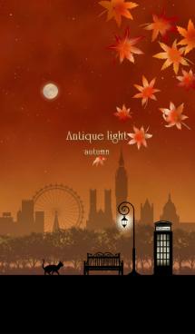 月夜空と街灯(秋) 画像(1)