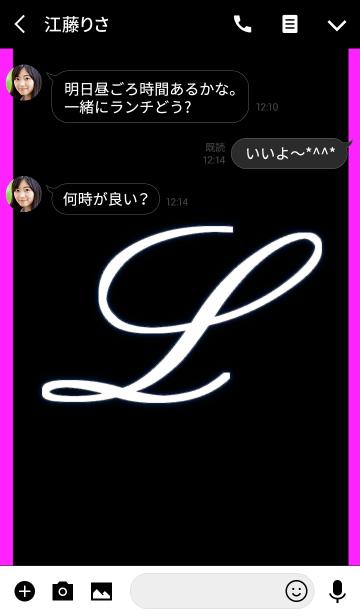 -L- Black & Pinkの画像(トーク画面)