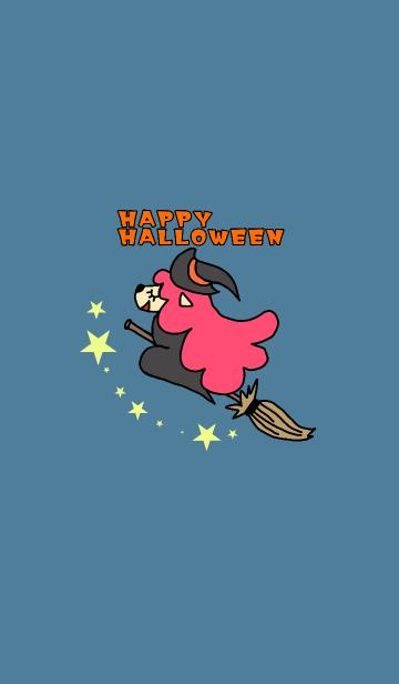 ハロウィンのカワイイ魔女犬の画像(表紙)