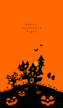 Happy Halloween Night with Full Moon 画像(1)