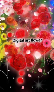Digital art flower 画像(1)