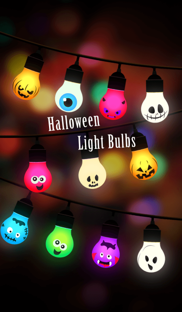 [LINE着せかえ] Halloween Light Bulbsの画像