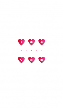 PINK HEART -white- 画像(1)