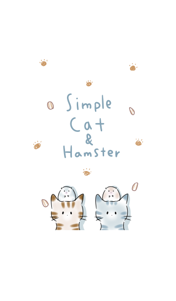 シンプル ねこ ハムスターの画像(表紙)
