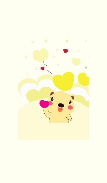 [LINE着せかえ] Cute bear theme v.17 (JP)の画像
