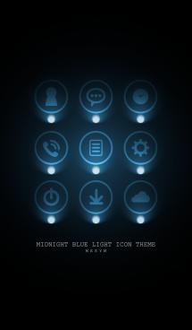 MIDNIGHT BLUE LIGHT ICON THEME 2