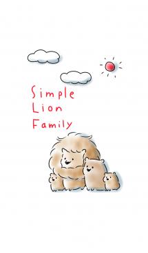 シンプル らいおん家族 画像(1)