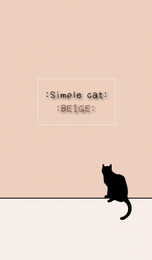 =SIMPLE CAT BEIGE= 画像(1)