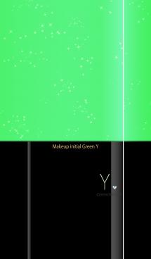 メークアップ イニシャル グリーン Y 画像(1)