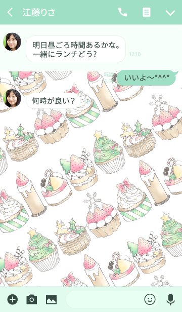 MERRY CHRISTMAS CAKE COLLECTION@冬特集の画像(トーク画面)