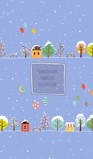 [LINE着せかえ] 北欧風の街並み 冬バージョン @冬特集の画像
