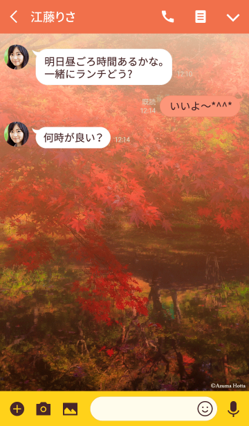 Autumn -warm color-の画像(トーク画面)