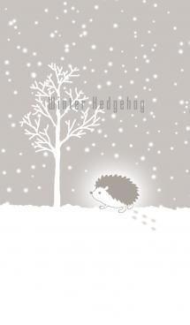 雪のハリネズミ-北欧風@冬特集 画像(1)