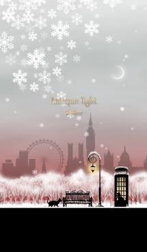 月夜空と街灯(冬) @冬特集 画像(1)