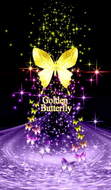 [LINE着せかえ] キラキラ♪黄金の蝶#38の画像
