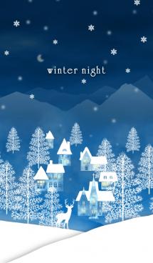 雪の冬夜 @冬特集 画像(1)