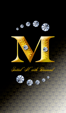 "Initial""M"" with DIAMOND 画像(1)"