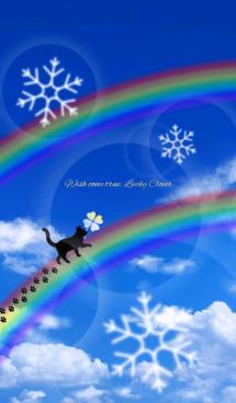 全運気アップ♡幸運のクローバー&猫♡冬