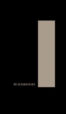 シンプル カーキと黒 ロゴ無し No.4-2