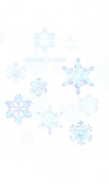 雪の結晶(水彩画風ブルー) 画像(1)