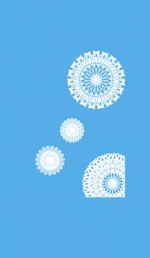 お花とリボンレース【ブルー・ホワイト】 画像(1)