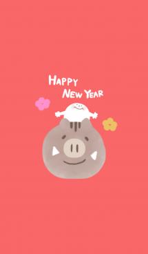 Happy New Year 2019 【いのしし】 画像(1)