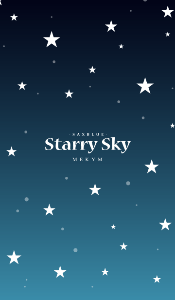 - Starry Sky Saxblue -の画像(表紙)