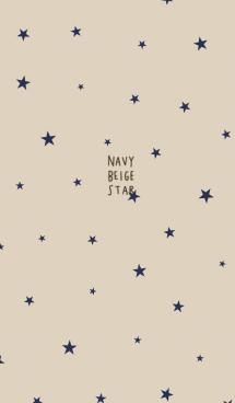 ベージュとネイビー&星 画像(1)
