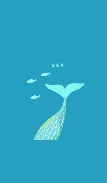青い海の画像(表紙)