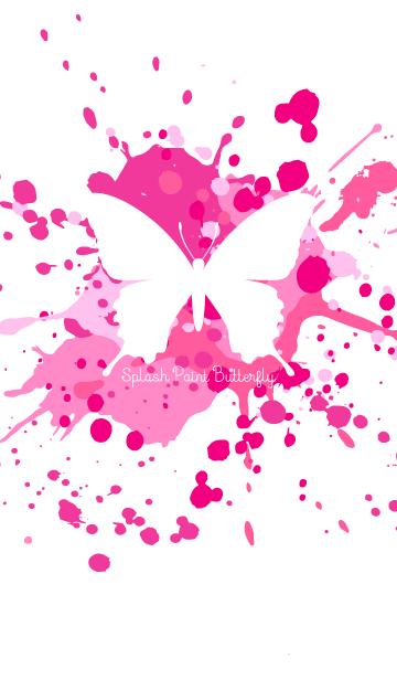 スプラッシュ・ペイント・蝶(ピンク×白)の画像(表紙)