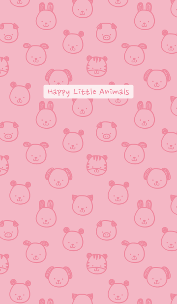 Happy Little Animals (Pink)の画像(表紙)