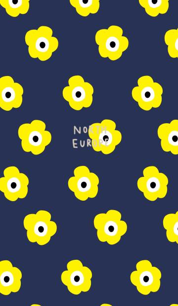 [LINE着せかえ] シンプル北欧&ネイビーイエローの画像