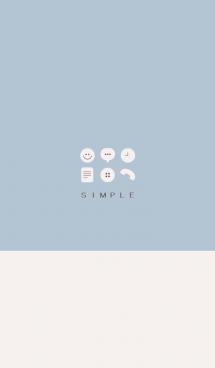 シンプル(beige blue))V.143
