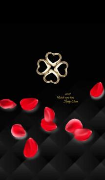 全運気アップ♥薔薇とクローバーVer.5 黒