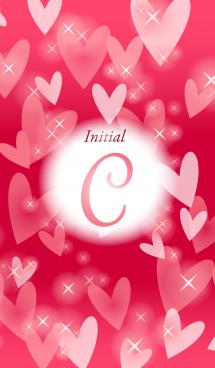 【C】イニシャル❤️ハート-赤2-