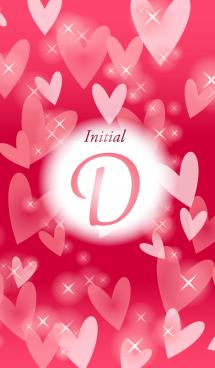 【D】イニシャル❤️ハート-赤2-