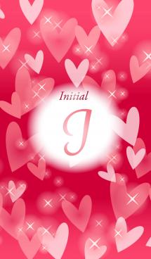 【I】イニシャル❤️ハート-赤2-