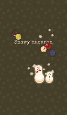 マカロン雪だるま + 抹茶 画像(1)