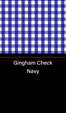 Gingham Check -Navy-