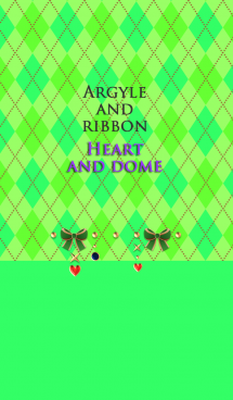 アーガイルとリボン(ハートとドーム)