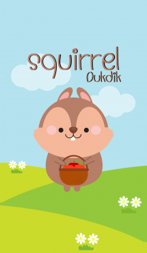 Lovely Squirrel Duk Dik Theme (jp) 画像(1)