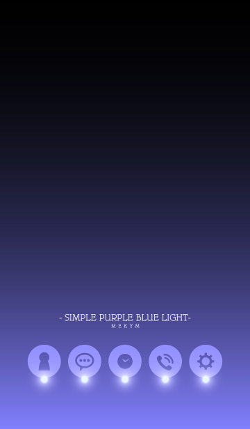 - SIMPLE PURPLE BLUE LIGHT -の画像(表紙)