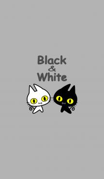 黒猫さんと白猫さん 画像(1)
